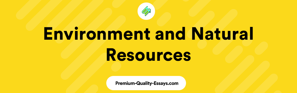 Economics of Environment and Natural Resources
