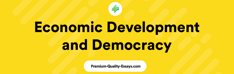 relationship between economic development and democracy