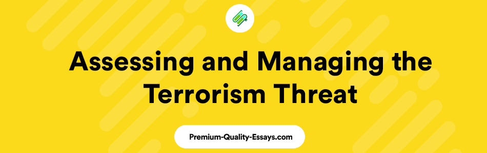 Article Review: Assessing and Managing the Terrorism Threat