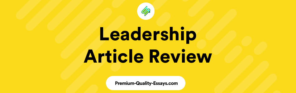 leadership article review