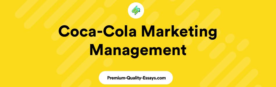 Coca-Cola marketing management